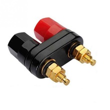 Red Black Connector Banana Plugs Couple Terminals Amplifier Terminal Binding Post Banana Speaker Plug Jack NEW