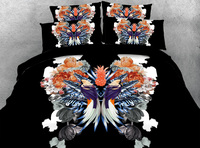 3D Printed Comforter Bedding Sets Twin Full Queen Super Cal King Size Bed Duvet Covers Bedclothes Modern Bird Floral Black Girls