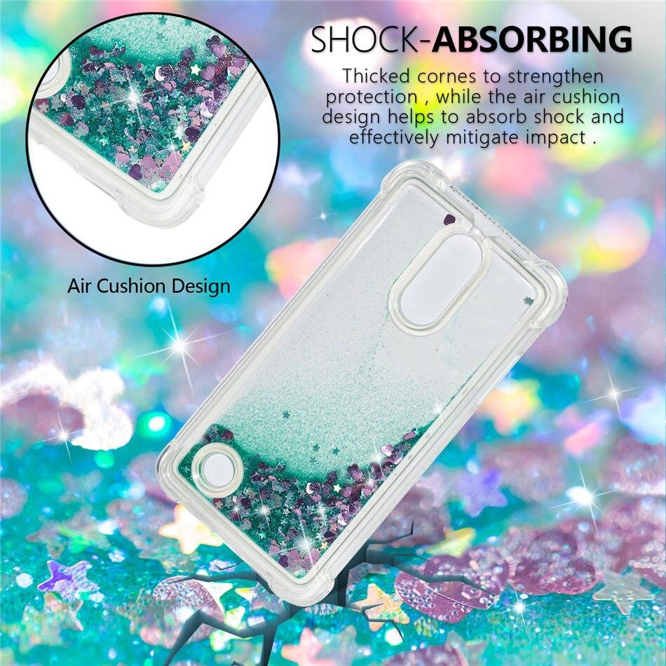 Luxury Case For LG V30 V20 G4 ThinQ Stylo 3 4 K8 2018 K10 2017 Aristo2 Plus Phone Cover Lovely Glitter Quicksand Soft Capa D03Z in Half wrapped Cases from Cellphones Telecommunications