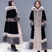 Female Long Coat 2018 Winter Women Plus Size Russian Velvet Thickening Maxi Fur Coat Faux Fur Coat Fluffy Loose Warm Overcoats