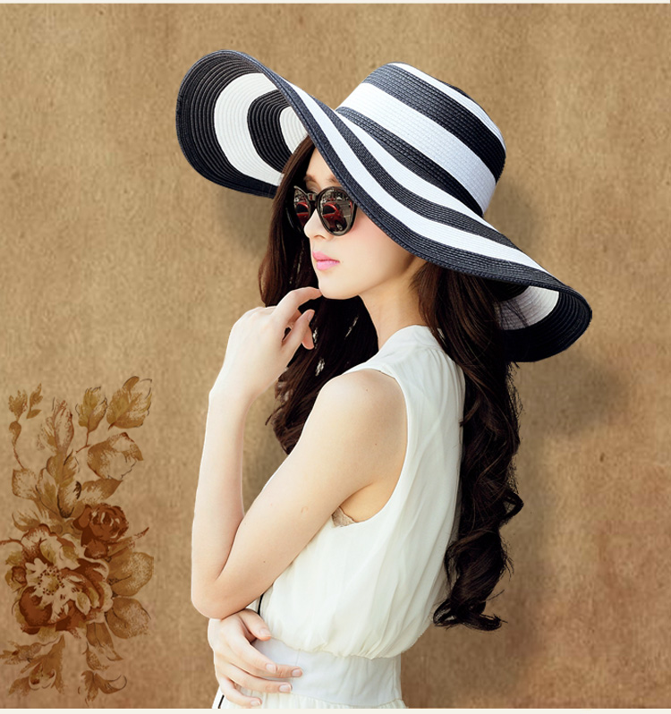 5198a0761eb women hat new fashion summer autumn white and black sun hat women caps  vintage causal lady vintage hat-in Sun Hats from Apparel Accessories on ...
