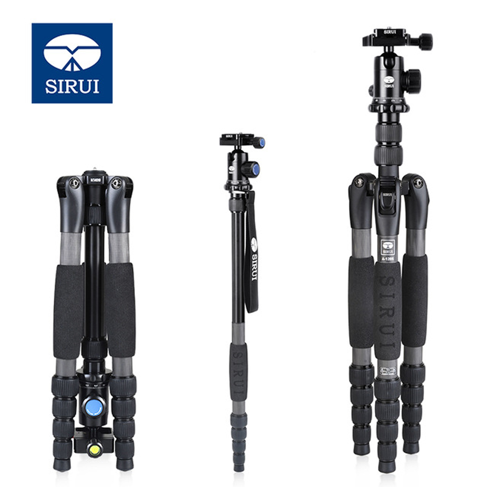 SIRUI A-1205 A1205 Tripod Professional Carbon Fiber Flexible Monopod For Camera With Y11 Ball Head 5 Section  Free Shipping