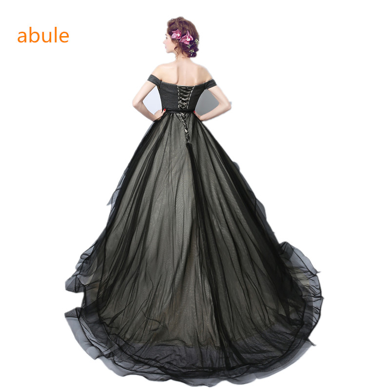 21b75943c8ba1 US $100.0 |abule 2018 black wedding dress ball gown sweetheart lace up  Princess beautiful court train Sexy simple Vestido De Noiva -in Wedding  Dresses ...