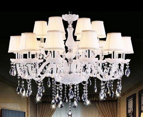 Giardino lampadario di cristallo di luce lampadario bianco moderno