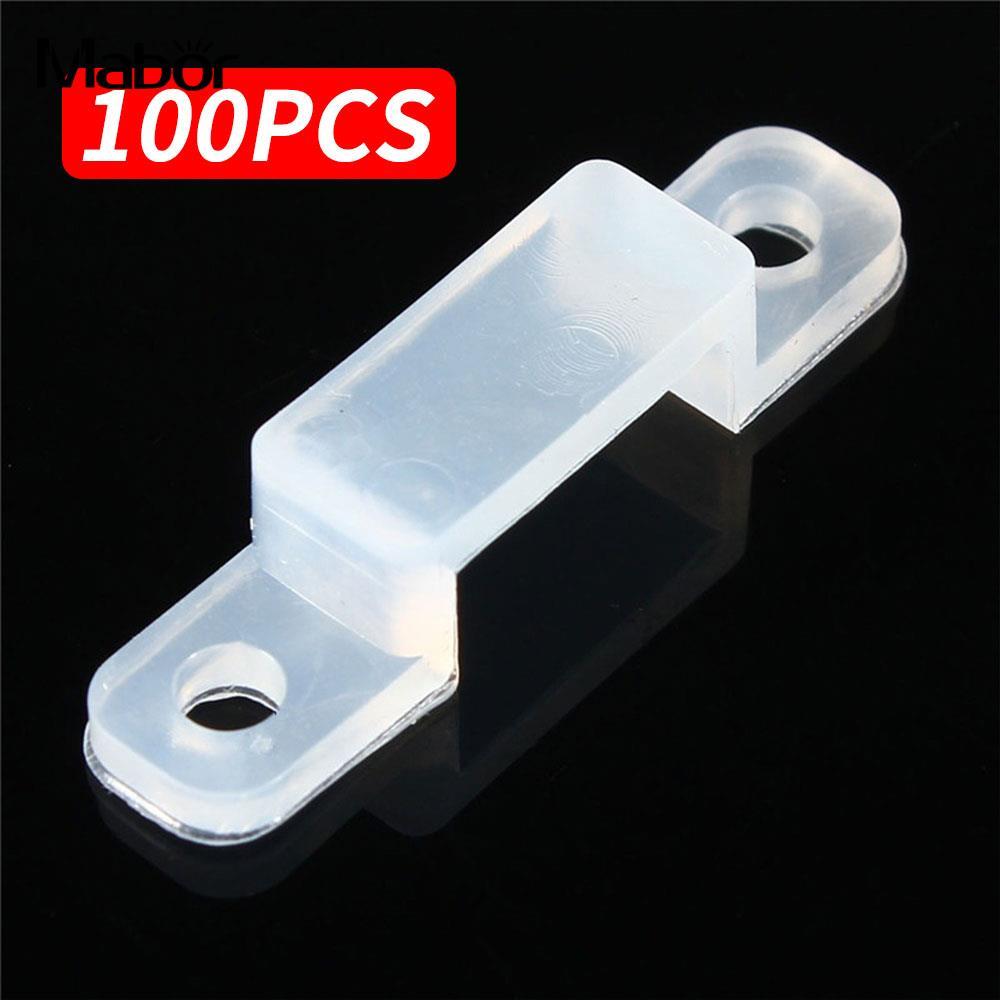 100pcs Fixer Silicon Clip 5050 5630 LED Strip Light Durable Silicon Fastener