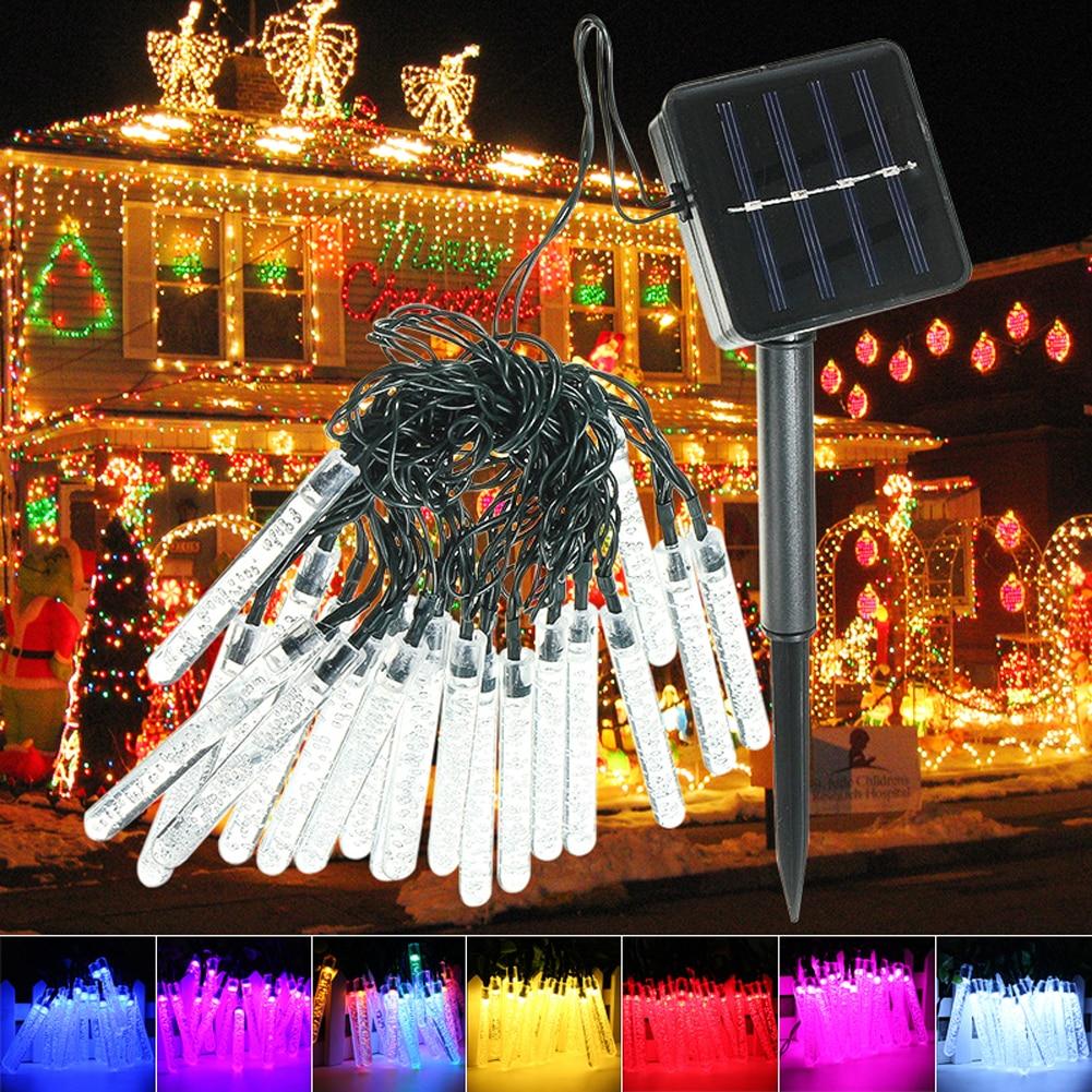 35 m 20 leds ice piton shape led solar garden string lights getsubject aeproduct aloadofball Choice Image
