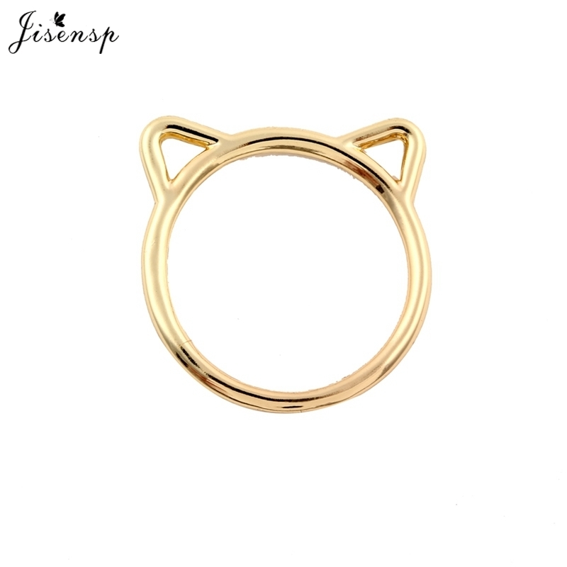 Jisensp 2018 New Fashion Accessories Jewelry Rings Lovely kitty Cat Ear Rings for Women Wedding Gifts Simple Style Bague Femme