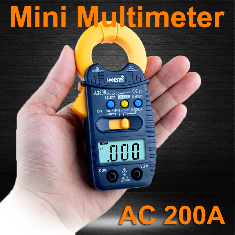 Auto Range Digital AC Current Clamp Meter AC DC Voltage Resistance meter Ohm Tester Electronic Multimeter Tools A3399 atorch electronic multimeter digital clamp meter dc ac voltage current tongs resistance amp ohm tester medidor multimetre tools