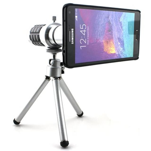 Orbmart 12x zoom óptico de alumínio telescópio lente da câmera para samsung galaxy note 5 note 4