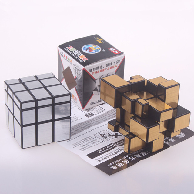 Original magic speed  mirror cube sticker block Puzzle Cast Coated Cube professional learning education toys for children 5