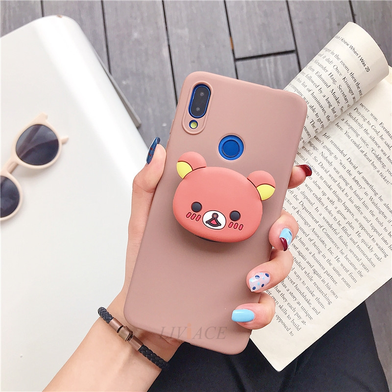 3D Cartoon Phone Holder Standing Case for Xiaomi Redmi Phone Made Of High-Quality Silicone And TPU Material 26