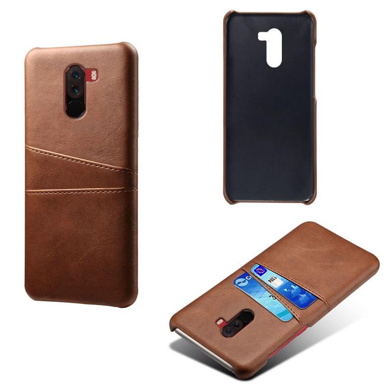 17pcs lot Leather case For Xiaomi Pocophone F1 Mi 9 MI 8 SE Back Cover Card