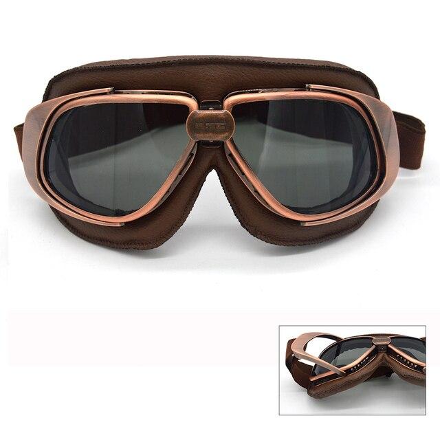 1d0139cd17be0 Evomosa Motocicleta Óculos de Proteção Piloto Do Vintage Motociclista Óculos  Occhiali gafas Óculos Óculos de Proteção