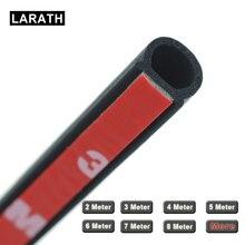 LARATH 2~8 Meter Waterproof Small D Car Rubber Seal Epdm 3m High Quality Car Door Seal Auto Rubber Door Insulation