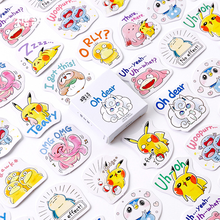 45Pcs/box Pokemon Pikachu Sticker Scrapbooking Japanese Creative DIY Journal Decorative Adhesive Label Cute Stationery Supplies