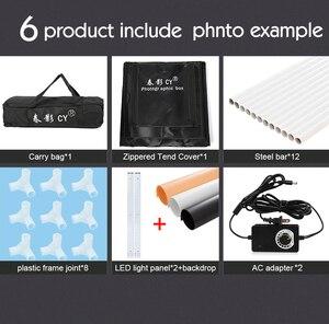 Image 5 - CY caja de luz LED para estudio fotográfico caja de luz suave para estudio fotográfico, regulable, para cámara de teléfono, DSLR, joyería, zapatos de juguete, 70cm