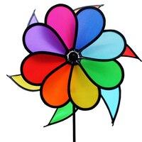 Gökkuşağı Fırıldak Bahçe Dekorasyon Rüzgar Spinner Ile Çocuklar Için Açık Kamp Salıncak Oyuncak