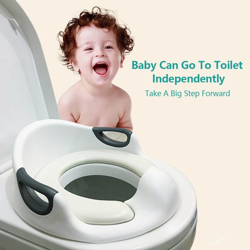 Extra Large Size Children Backrest Auxiliary Baby Toilet Trainer Potty Training Seat With Armrest Toilet Seat фруктовница bekker трехъярусная bk 7510