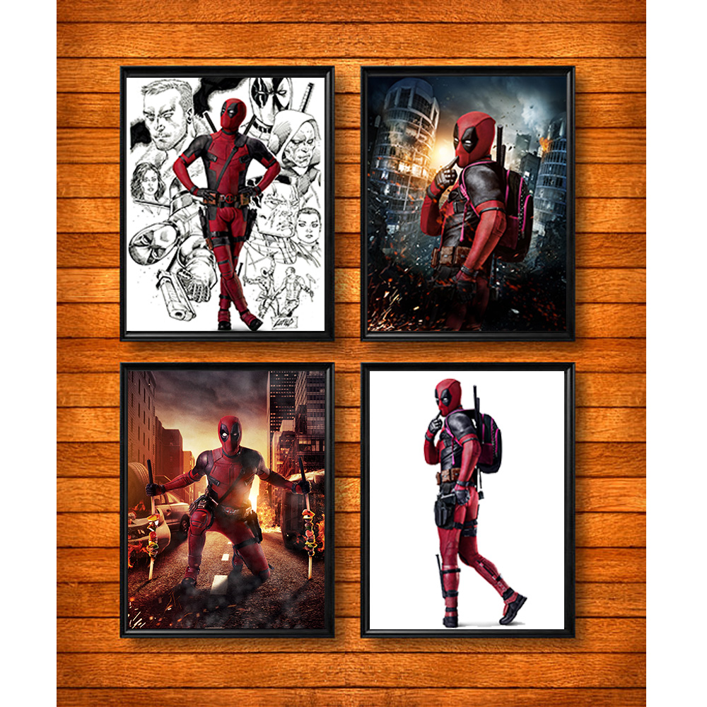 Deadpool Poster Print Like Hot Cakes In The Frameless Painted On Canvas Decorative Bars Unframed Rmp003 Painting Calligraphy From Home