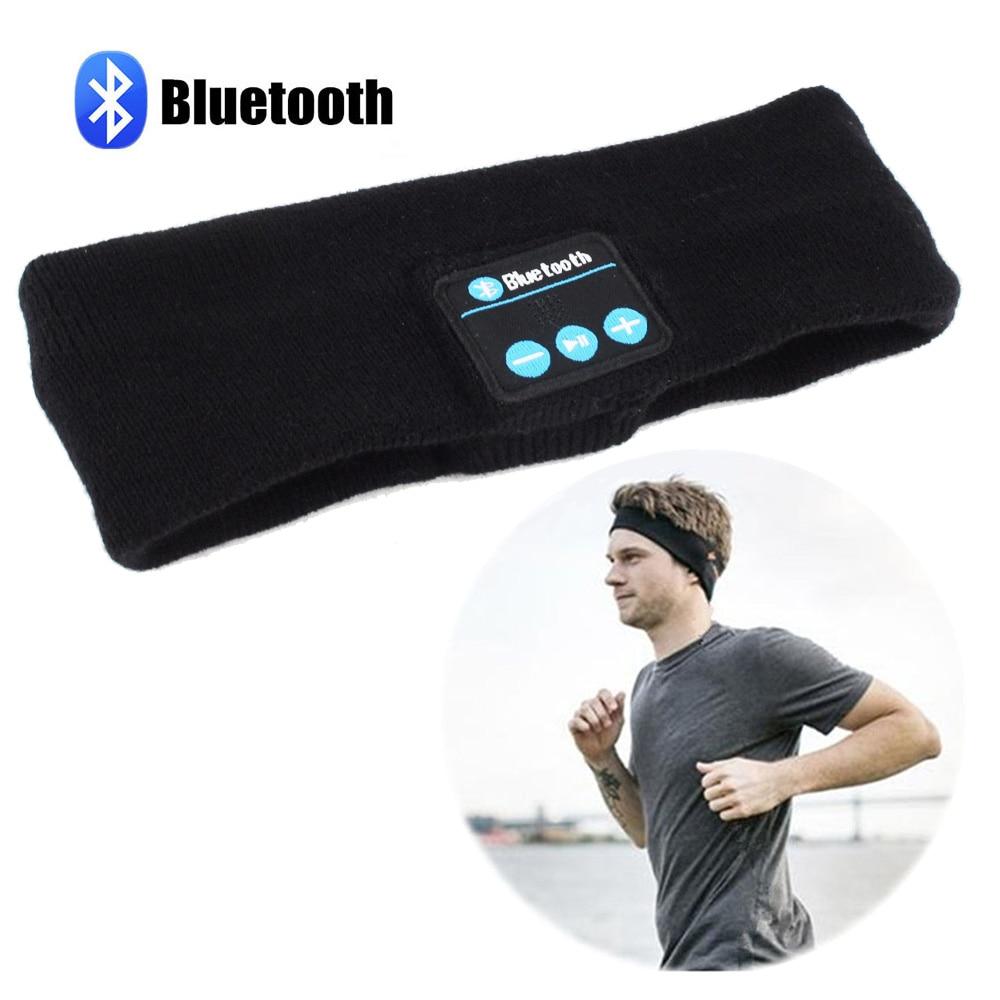 Bluetooth 4 1 Unisex Sport Outdoor Smart Warm Headband Wireless Bluetooth Caps Headphone Headset with Speaker