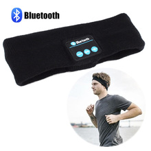 Bluetooth 4.1 Unisex Sport&Outdoor Smart Warm Headband Wireless Bluetooth Caps Headphone Headset with Speaker Mic free shipping