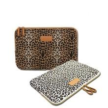 New Leopard Canvas Fabric Sleeve Case Bag Notebook laptop sl