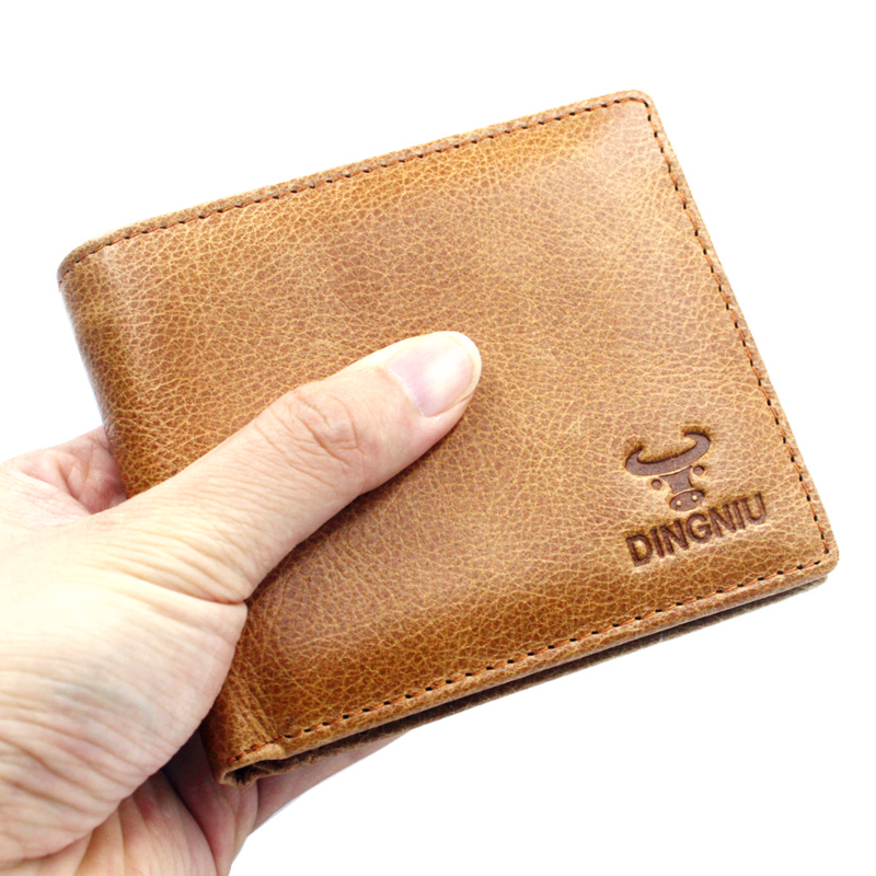 New Arrival Men's Genuine Leather Wallet With Coin Bag Male Purse Clutch Bag Card Holder Men Leather Short Wallets