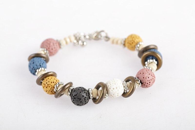 17 Lava Stone Beads Bracelet Beautiful Bangles Bracelets For Women Nature Stone Bracelet Strand Women Bracelets Jewelry Women 12