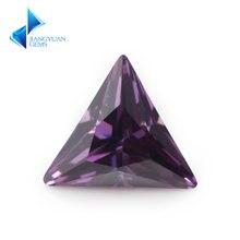 3x3 ~ 12х12 мм треугольная форма 5А Фиолетовый Красный кубический