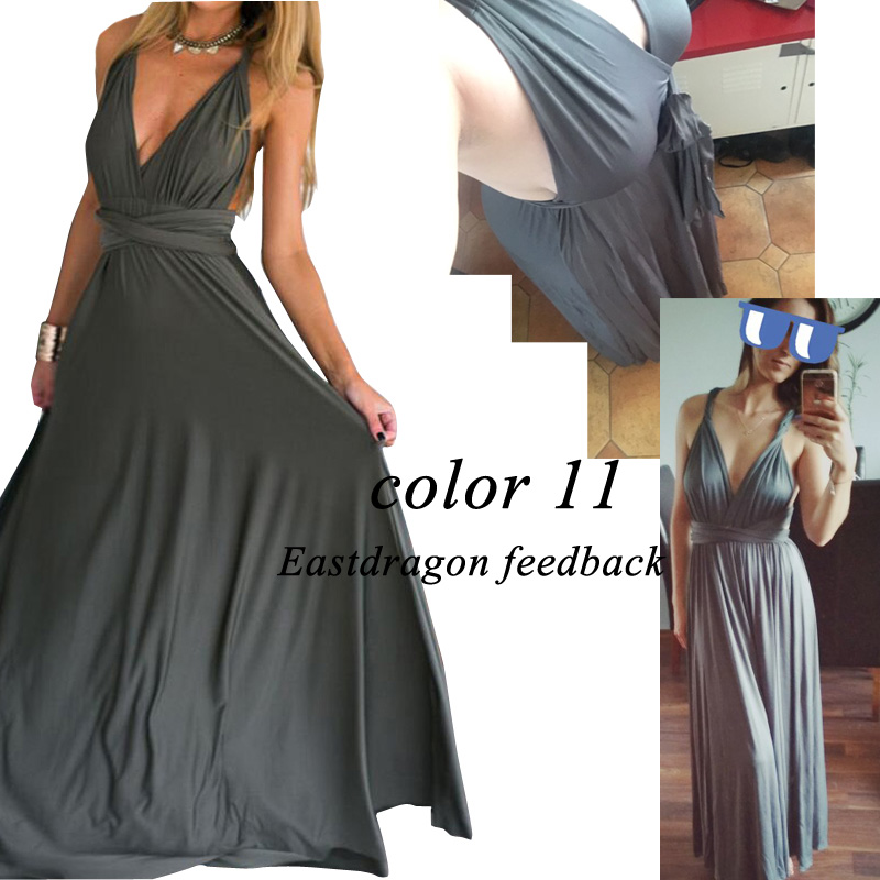 Sexy Women Multiway Wrap Convertible Boho Maxi Club Red Dress Bandage Long Dress Party Bridesmaids Infinity Robe Longue Femme 18