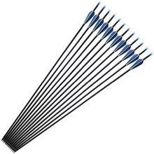 32 дюйма, 7,6 мм, 400 Дротика для позвоночника, углеродные стрелы для стрельбы из лука, для изогнутого соединения, наконечник для лука, для охоты, для стрельбы, сменная стрела, Дротика s