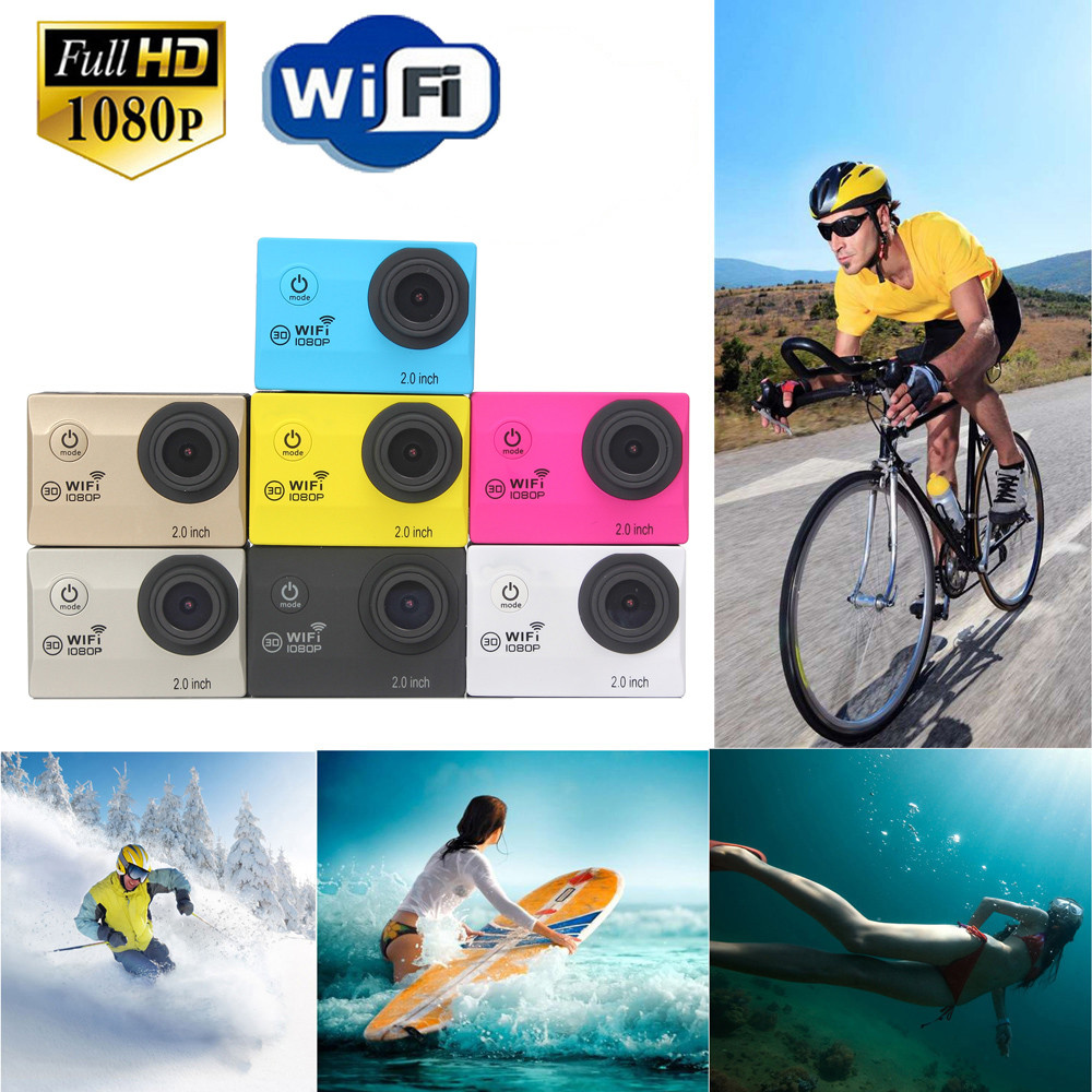 C3 Bicycle Surfing skiing Swimming New Full HD 1080P WIFI H16 Action Sport Camera Camcorder Waterproof HDMI HD Output Web Camera h9 ultra hd 4k wifi 2 0 inch bicycle snorkeling surfing helmet sport camera video camcorder waterproof 30 meters under water