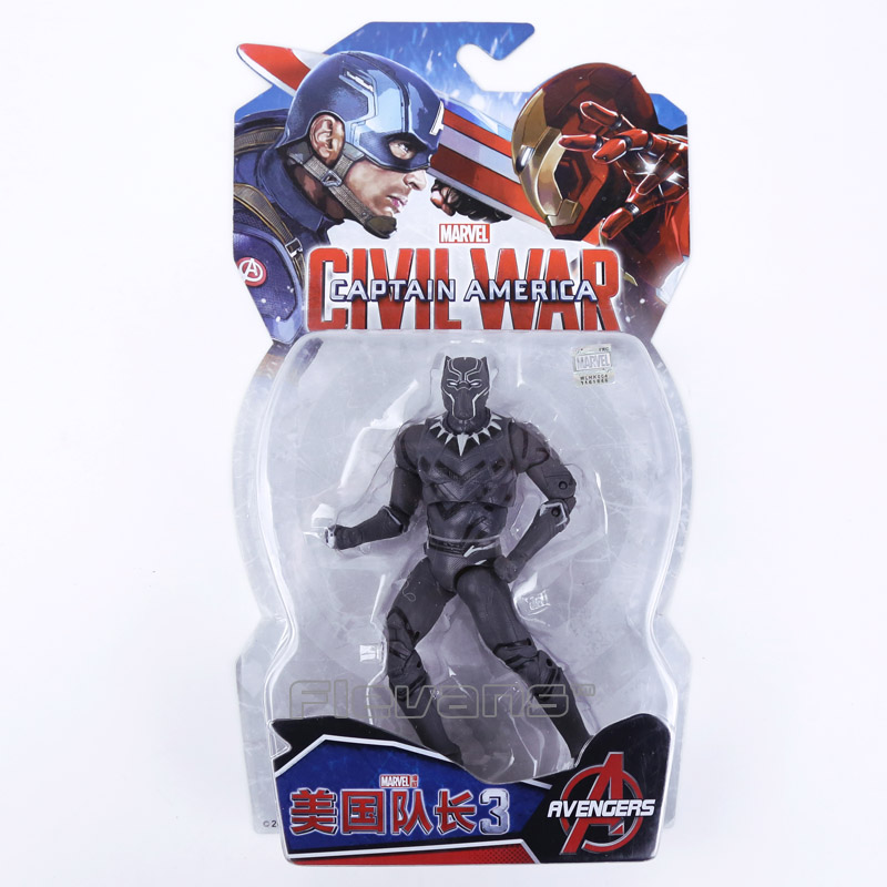 Legends Avengers Civil War Captain America Iron Man Black Widow Black Panther Scarlet Witch Ant Man PVC Action Figure Toy