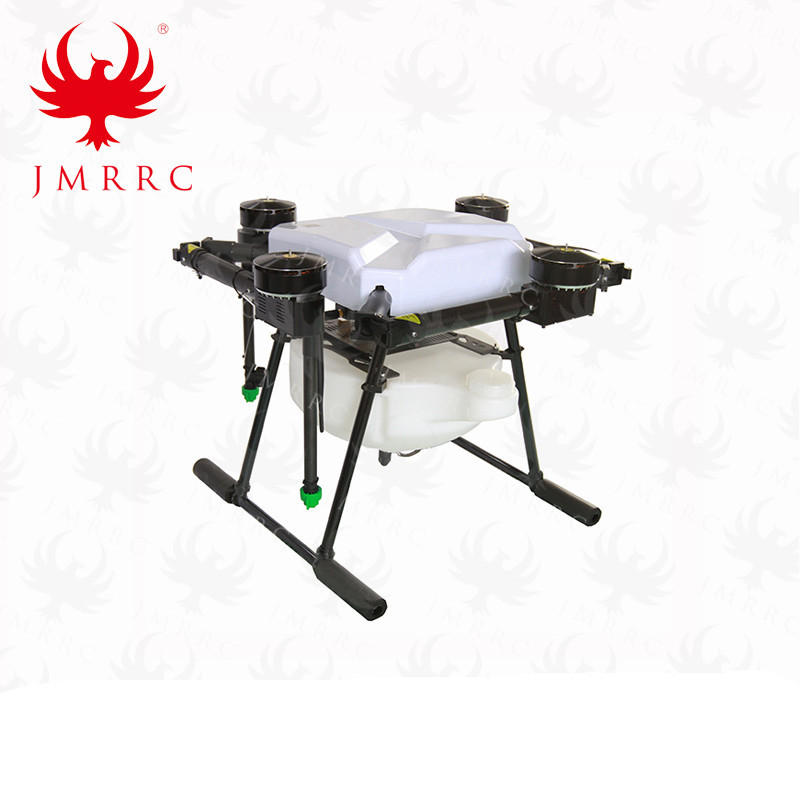 DIY 10L Agricultural spraying quadcopter drone 1210mm annular folding pure carbon fiber frame 12mm 18mm landing