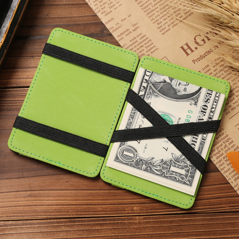 Slim Male Magic Wallet leather Purse Men & Women High Quality Carteira Magica Masculina Porte Monnaie Small Wallets baellerry high quality men leather wallets vintage male wallet three hold purse for men short purses carteira masculina d9150