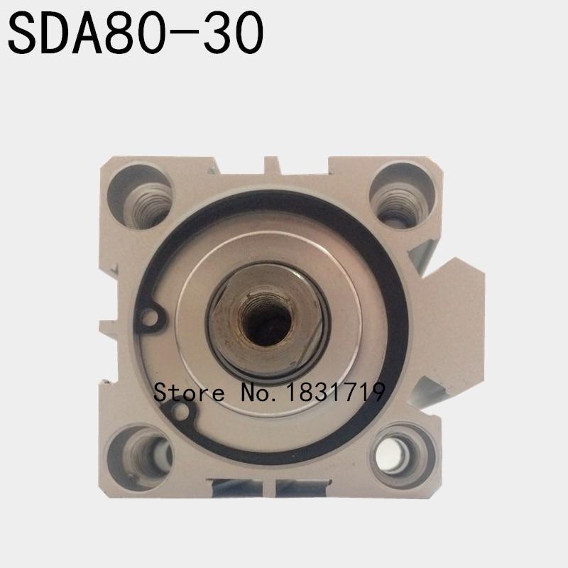 SDA80-30 thin cylinder Series 80mm Bore 30mm Stroke SDA80*30 Aluminium alloy cylinder SDA80x30SDA80-30 thin cylinder Series 80mm Bore 30mm Stroke SDA80*30 Aluminium alloy cylinder SDA80x30