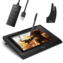 Parblo Coast 10 Graphic tablet Drawing Monitor HD IPS with Shortcut Keys and Battery free Pen+Anti fouling Glove