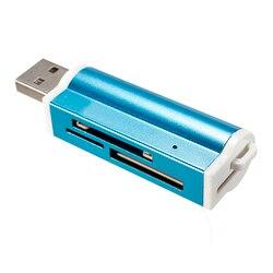 Universale SY-All in 1 USB 2.0 Multi Memory Card Reader Micro SD MMC SD HC TF M2 Memory Stick MS Duo RS-MMC  Imballaggi Al Dettaglio