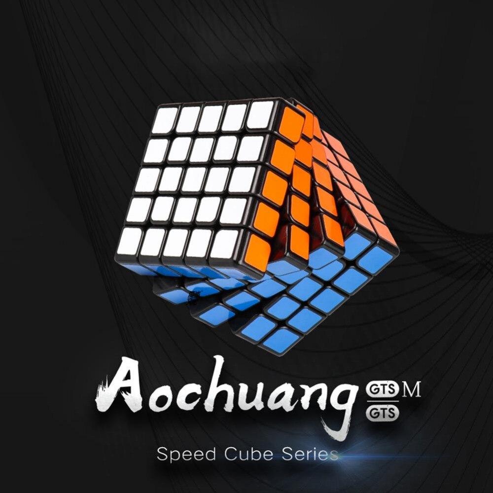 LeadingStar MOYU AoChuang GTS M 5x5 Magnétique Smart Cube Magique Cube Vitesse Puzzle Cubes Jouets Éducatifs pour Enfants