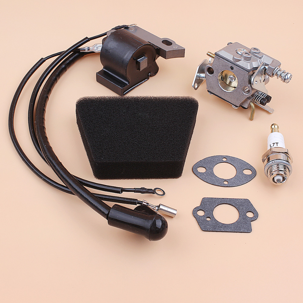 Tools : Carburetor Air Filter Ignition Coil Module Spark Plug Kit Fit Partner 350 351 370 371 420 Chainsaw Parts Walbro 33-29 Carb