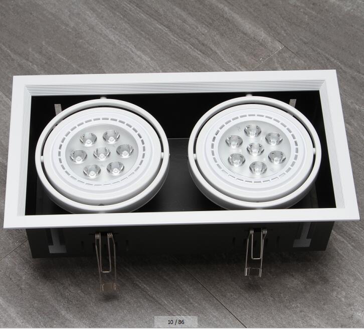 free envio 12 w led grille lampadas do teto quadrado para shopping loja hotel sala de