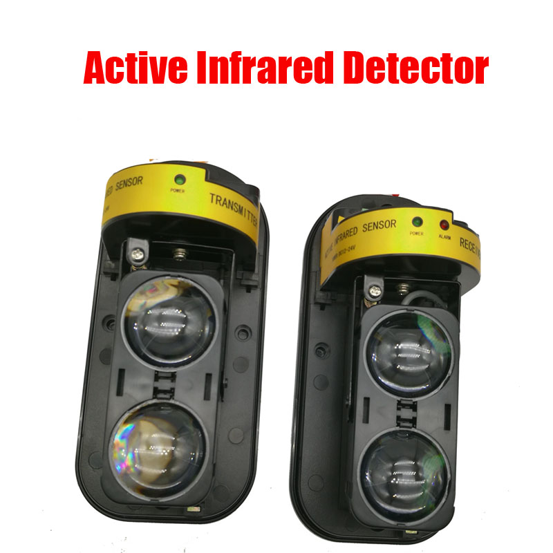 NOVOXY Photoelectric Dual Beam Perimeter Fence Active Infrared IR Sensor Barrier Detector 10-100M Window Outdoor Intrusion Alarm lpsecurity 100m to 250m intrusion alarm infrared detector burglar alarm photoelectric 3 beam perimeter fence window outdoor