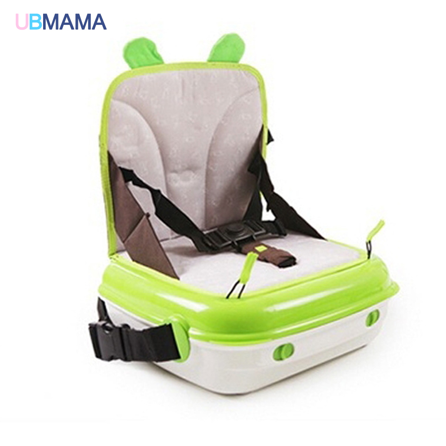Multifunction travel Mummy bag Green orange Storage Box Non-slip Elevated chair seat belt high quality Children's dining chair orange box with cs1 6
