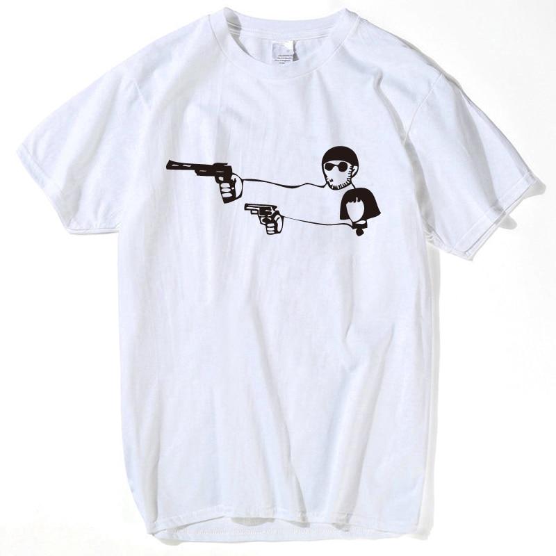 Fashion Movie Leon The Professional T Shirt Men Women Leon Teach Matilda Shoot Top Tees Hip Hop Rock O Neck T-shirt Women Tee