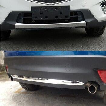 Für Mazda CX-5 CX5 2015 Vorderen und Hinteren Stoßfänger Trim streifen Auto außen dekorative trimmen hinteren stoßstange polnisch Trim Auto zubehör
