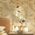 Розовая Европейская Хрустальная настольная лампа  прикроватная настольная лампа для спальни  садовые цветы  креативная Модная современная...