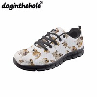 doginthehole Pitbull Dog Animal Printing Men Running Shoes for Boys Outdoor Sport Shoes for Fitness Mesh Breathable Sneakers