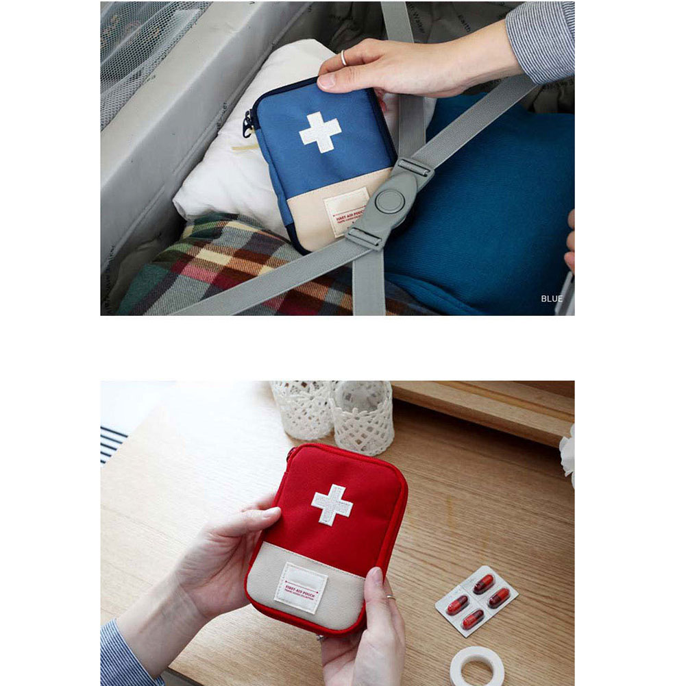 Empty First Aid Bag Emergency Pouch Travel Medicine Pill Storage Bags Outdoor Survival Organizer WIF66