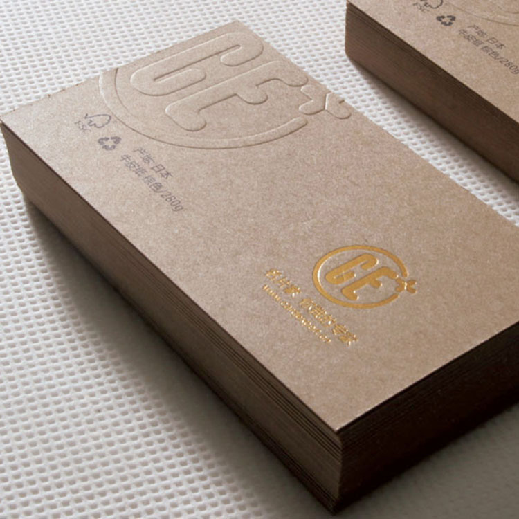 Kraft Paper Printable Business Cards Choice Image - Card Design And ...