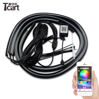 Tcart App control 90/120cm Car RGB Strip LED for car lights Under Car Glow Underbody System Neon Light waterproof car styling